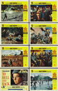 """Movie Posters:War, To Hell and Back (Universal, 1955). Lobby Card Set of 8 (11"""" X 14"""").... (Total: 8 Items)"""