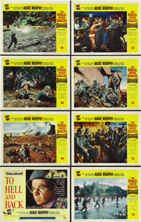 """To Hell and Back (Universal, 1955). Lobby Card Set of 8 (11"""" X 14"""").... (Total: 8 Items)"""
