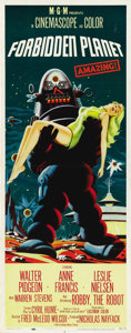 "Movie Posters:Science Fiction, Forbidden Planet (MGM, 1956). Insert (14"" X 36""). ..."