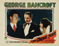 """Movie Posters:Crime, The Drag Net (Paramount, 1928). Lobby Card (11"""" X 14""""). ..."""