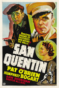 "Movie Posters:Drama, San Quentin (Warner Brothers, 1937). Other Company One Sheet (27"" X41""). ..."