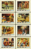 "Movie Posters:Western, Rio Bravo (Warner Brothers, 1959). Lobby Card Set of 8 (11"" X 14""). ... (Total: 8 Items)"