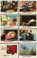 "Movie Posters:Hitchcock, North by Northwest (MGM, 1959). Lobby Card Set of 8 (11"" X 14"").... (Total: 8 Items)"