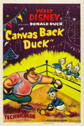"Movie Posters:Animated, Canvas Back Duck (RKO, 1953). One Sheet (27"" X 41""). ..."