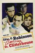 "Movie Posters:Crime, The Amazing Dr. Clitterhouse (Warner Brothers, 1938). One Sheet(27"" X 41""). ..."