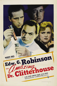 "The Amazing Dr. Clitterhouse (Warner Brothers, 1938). One Sheet (27"" X 41"")"