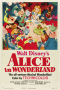 "Movie Posters:Animated, Alice in Wonderland (RKO, 1951). One Sheet (27"" X 41"")...."