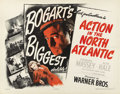 "Movie Posters:War, Action in the North Atlantic (Warner Brothers, 1943). Half Sheets(2) (22"" X 28"") Styles A and B. ... (Total: 2 Items)"