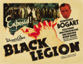 "Movie Posters:Crime, Black Legion (Warner Brothers, 1937). Half Sheet (22"" X 28"") StyleB. ..."