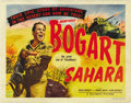 "Movie Posters:War, Sahara (Columbia, 1943). Half Sheet (22"" X 28"") Style A...."