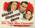 """Movie Posters:Film Noir, The Two Mrs. Carrolls (Warner Brothers, 1947). Half Sheet (22"""" X28"""") Style B...."""