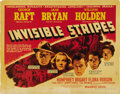 """Movie Posters:Crime, Invisible Stripes (Warner Brothers, 1939). Half Sheet (22"""" X 28"""") Style B. ..."""