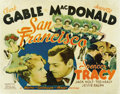 "Movie Posters:Romance, San Francisco (MGM, 1936). Half Sheet (22"" X 28""). ..."