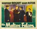 "Movie Posters:Film Noir, The Maltese Falcon (Warner Brothers, 1941). Lobby Card (11"" X 14"")...."