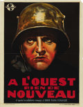 """Movie Posters:War, All Quiet on the Western Front (Universal, R-1938). Belgian (24"""" X30.5""""). ..."""