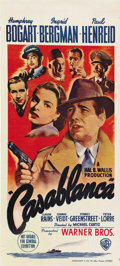 "Movie Posters:Drama, Casablanca (Warner Brothers, 1942). Australian Daybill (13.5"" X30"")...."