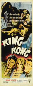 "Movie Posters:Horror, King Kong (RKO, R-1956). Insert (14"" X 36""). ..."
