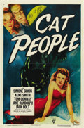 "Movie Posters:Horror, Cat People (RKO, R-1952). One Sheet (27"" X 41"")...."