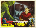 "Movie Posters:Horror, The Mummy (Realart, R-1951). Lobby Cards (2) (11"" X 14""). ...(Total: 2 Items)"