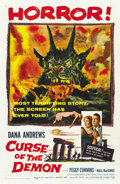 "Movie Posters:Horror, Curse of the Demon (Columbia, 1957). One Sheet (27"" X 41""). ..."