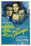 "Movie Posters:Film Noir, The Stranger (RKO, 1946). One Sheet (27"" X 41"")...."