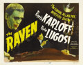 "Movie Posters:Horror, The Raven (Realart, R-1948). Title Lobby Card (11"" X 14""). ..."
