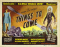 "Movie Posters:Science Fiction, Things to Come (United Artists, R-1947). Title Lobby Card (11"" X14"")...."