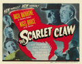 "Movie Posters:Mystery, The Scarlet Claw (Universal, 1944). Title Lobby Card (11"" X 14"")...."