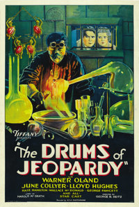 """The Drums of Jeopardy (Tiffany, 1931). One Sheet (27"""" X 41"""")"""