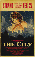 "Movie Posters:Drama, The City (Fox, 1926). Window Card (13.5"" X 22""). ..."