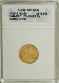 Commemorative Gold: , 1915-S $2 1/2 Panama-Pacific Quarter Eagle--Ex-Jewelry,Scratched--ANACS. AU50 Details. NGC Census: (1/1665). PCGSPopulati...