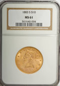 Liberty Eagles, 1883-S $10 MS61 NGC....
