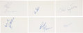 Hockey Collectibles:Others, 1970's New York Rangers Signed Index Cards Lot of 18....