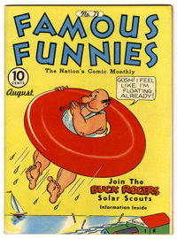 Famous Funnies #73 Lost Valley pedigree (Eastern Color, 1940) Condition: VF-