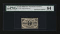 Fractional Currency:Third Issue, Fr. 1227 3c Third Issue PMG Choice Uncirculated 64....