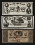 Obsoletes By State:Louisiana, New Orleans, LA- Citizens' Bank of Louisiana $1; $3; $100. ... (Total: 3 notes)
