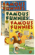 Golden Age (1938-1955):Miscellaneous, Famous Funnies #64, 65, and 67 Group (Eastern Color, 1939-40).... (Total: 3 Comic Books)