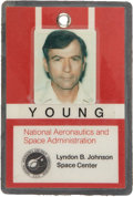 Explorers:Space Exploration, John Young's NASA U.S. Government Photo Identification Badge, Dated 1981, Directly from his Personal Collection, Signe...