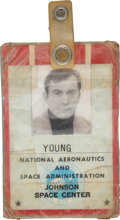 Explorers:Space Exploration, John Young's NASA U.S. Government Photo Identification Badge, Dated1969, Directly from his Personal Collection, Signe...
