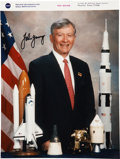 Autographs:Celebrities, John Young Signed Official NASA Color Portrait Directly from hisPersonal Collection....