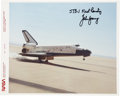 Autographs:Celebrities, John Young Signed STS-1 Color Landing Photo Directly from hisPersonal Collection....