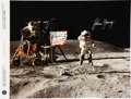 Autographs:Celebrities, John Young Signed Apollo 16 Color Photo Directly from his PersonalCollection. ...