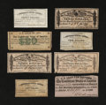 Confederate Notes:Group Lots, Confederate Bond Coupons. Eight Different Examples.. ... (Total: 8items)