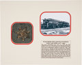 Military & Patriotic:Civil War, Silver Embroidered Star from the Flag Decorating the Lincoln Funeral Rail Car....