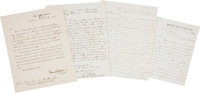 Important Group of Three Manuscript Letters from U.S. Civil War Generals to President Abraham Lincoln Recommending John...