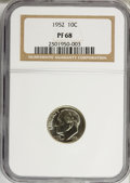 Proof Roosevelt Dimes: , 1952 10C PR68 NGC. NGC Census: (119/12). PCGS Population (29/0).Mintage: 81,980. Numismedia Wsl. Price for NGC/PCGS coin i...
