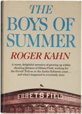 Autographs:Others, Roger Kahn's The Boys of Summer Signed Book....