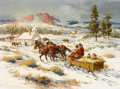 Western:Contemporary, FRED HARMAN (American, 1902-1982). Sunday Morning , 1941. Oil on canvas. 18 x 24 inches (45.7 x 61.0 cm). Signed and dat...