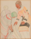 Fine Art - Work on Paper:Drawing, EDITH HOWLANE (American, 20th Century). Calgary - March 20th1918, 1918. Graphite and watercolor on paper. 12-1/4 x 9-1/...