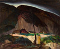 Fine Art - Painting, American:Contemporary   (1950 to present)  , JES WILHELM SCHLAIKJER (American, 1897-1982). Dakota Ranch.Oil on canvas. 24 x 30 inches (61.0 x 76.2 cm). Signed lower...